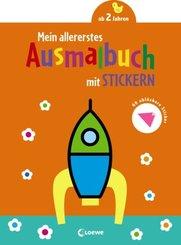 Mein allererstes Ausmalbuch mit Stickern (Rakete)