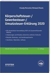 Körperschaftsteuer-, Gewerbesteuer-, Umsatzsteuer-Erklärung 2020