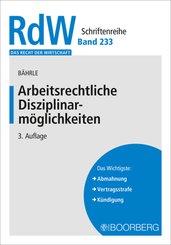 Arbeitsrechtliche Disziplinarmöglichkeiten; II,1