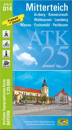 ATK25-D14 Mitterteich (Amtliche Topographische Karte 1:25000)