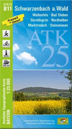ATK25-B11 Schwarzenbach a.Wald (Amtliche Topographische Karte 1:25000)