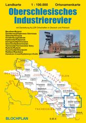 Landkarte Oberschlesisches Industrierevier