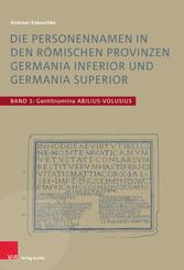 Die Personennamen in den römischen Provinzen Germania inferior und Germania superior, 3 Teile