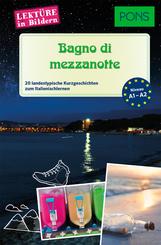PONS Lektüre in Bildern Italienisch A1-A2 - Bagno di mezzanotte