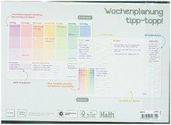 Tisch-Block A4 Wochenplan Rainbow