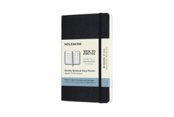 Moleskine 18 Monate Monats Notizkalender 2021/2022 Pocket/A6, Schwarz