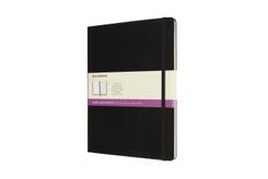 Moleskine Notizbuch - Doppelte Lineatur, X-Large, Liniert-Blanko, Schwarz