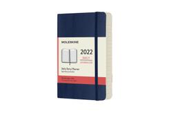 Moleskine 12 Monate Tageskalender 2022 Pocket/A6, Saphir