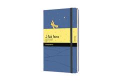Moleskine 12 Monate Tageskalender 2022 - Der kleine Prinz, Large/A5, Vergissmeinnicht Blau