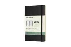 Moleskine 12 Monate Wochen Notizkalender 2022 Pocket/A6, Schwarz