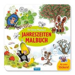 Trötsch Der kleine Maulwurf Jahreszeitenmalbuch Sticker und Malbuch