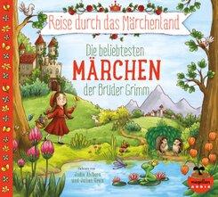 Reise durch das Märchenland - Die beliebtesten Märchen der Brüder Grimm (Audio-CD), 2 Audio-CD