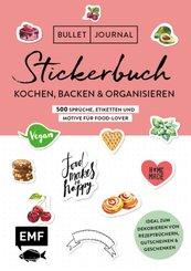 Bullet Journal - Stickerbuch: Kochen, Backen & Organisieren