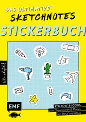 Let's sketch! Das ultimative Sketchnotes-Stickerbuch - Über 600 Sticker: Symbole und Icons zum Organisieren und Planen v
