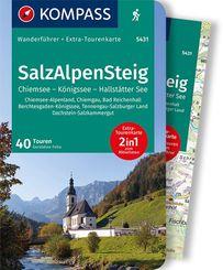 KOMPASS Wanderführer SalzAlpenSteig, Chiemsee, Königssee, Hallstätter See