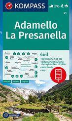 KOMPASS Wanderkarte Adamello, La Presanella