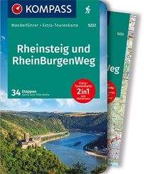 KOMPASS Wanderführer Rheinsteig RheinBurgenWeg