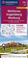 KOMPASS Fahrradkarte Wetterau, Vogelsberg, Marburg