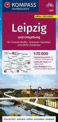 KOMPASS Fahrradkarte Leipzig und Umgebung