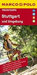 MARCO POLO Freizeitkarte Stuttgart und Umgebung 1:100 000