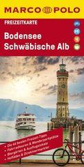MARCO POLO Freizeitkarte Bodensee, Schwäbische Alb 1:100 000