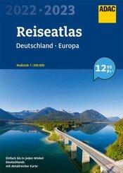 ADAC ReiseAtlas 2022/2023 Deutschland 1:200 000, Europa 1:4 500 000