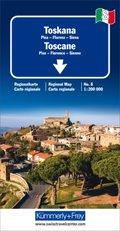 Toskana Regionalkarte Italien Nr. 8