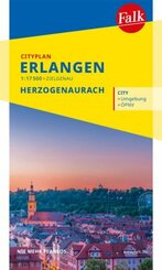 Falk Cityplan Erlangen 1:17 500 mit Herzogenaurach