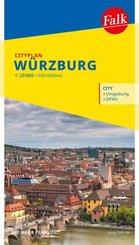 Falk Cityplan Würzburg 1:15 000