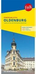 Falk Stadtplan Extra Standardfaltung Oldenburg 1:17 500
