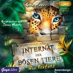Internat der bösen Tiere - Die Prüfung, 1 Audio-CD, MP3