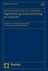 Digitalisierung, Automatisierung, KI und Recht