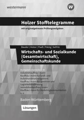Holzer Stofftelegramme Baden-Württemberg - Wirtschafts- und Sozialkunde (Gesamtwirtschaft), Gemeinschaftskunde - Lösunge