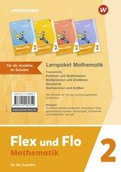 Flex und Flo - Ausgabe 2021 für Rheinland-Pfalz - Lernpaket Mathematik 2: Für die Ausleihe, 4 Hefte