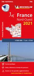 Northwestern France 2021- Michelin National Map 706