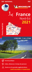 Northeastern France 2021 - Michelin National Map 707