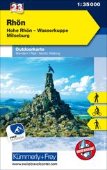 Rhön, Hohe Rhön, Wasserkuppe, Milseburg