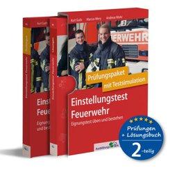 Einstellungstest Feuerwehr: Prüfungspaket mit Testsimulation, 2 Bände