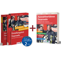 Einstellungstest Feuerwehr: Prüfungspaket mit Testsimulation / Auswahlverfahren Feuerwehr, 3 Bände