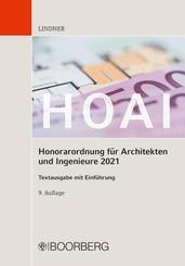 HOAI - Honorarordnung für Architekten und Ingenieure 2021