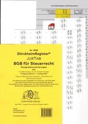 DürckheimRegister® BGB im Steuerrecht Gesetze und  2021