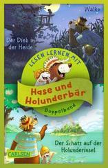Doppelband zum Lesenlernen - Hase und Holunderbär: Der Schatz auf der Holunderinsel / Der Dieb in der Heide