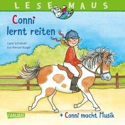 """""""Conni lernt reiten"""" + """"Conni macht Musik"""" Conni Doppelband"""