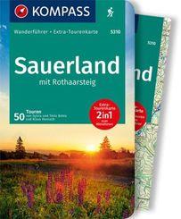Sauerland mit Rothaarsteig mit Karte