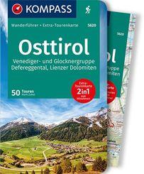 KOMPASS Wanderführer Osttirol, Venediger- und Glocknergruppe, Defereggental, Lienzer Dolomiten
