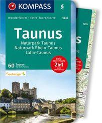 KOMPASS Wanderführer Taunus, Naturpark Taunus, Naturpark Rhein-Taunus, Lahn-Taunus, m. 1 Karte