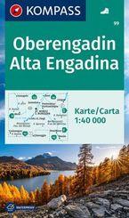 KOMPASS Wanderkarte Oberengadin, Alta Engadina