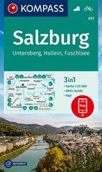 KOMPASS Wanderkarte Salzburg, Untersberg, Hallein, Fuschlsee