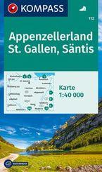 KOMPASS Wanderkarte Appenzellerland, St. Gallen, Säntis