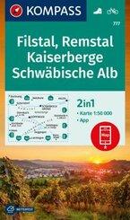 KOMPASS Wanderkarte Filstal, Remstal, Kaiserberge, Schwäbische Alb